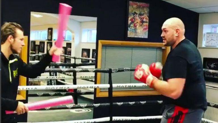 Тайсън Фюри с нова тренировка на ринга