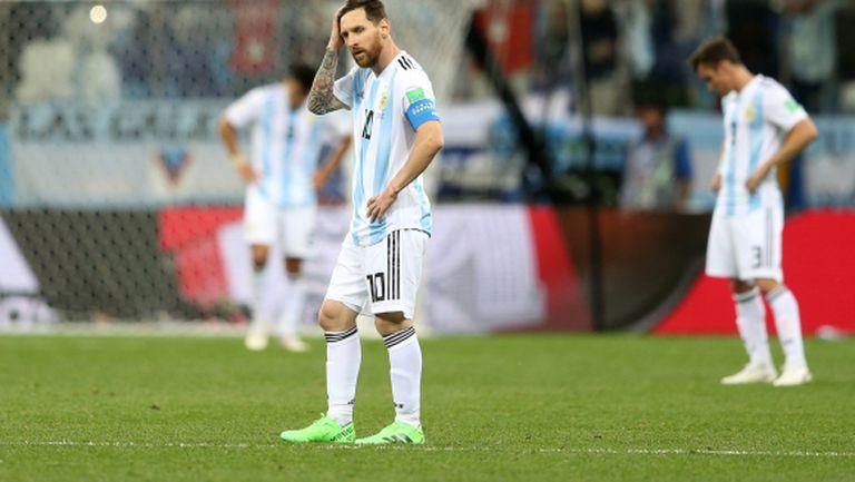 Аржентина с най-лош старт на Мондиал от 1974 година насам