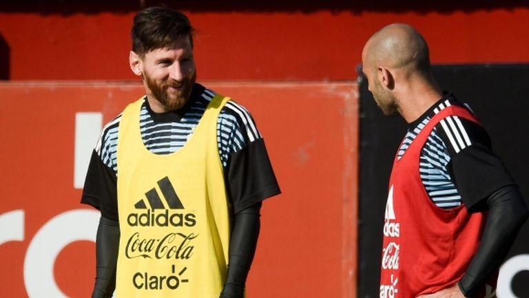 Световен шампион с Аржентина: Меси и Масчерано определят състава
