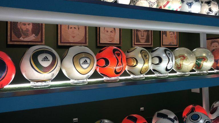Бивш рефер си направи музей с 800 футболни топки