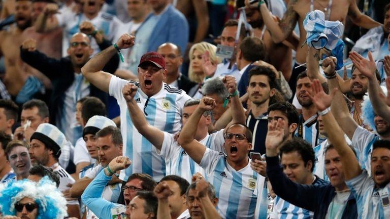 Фен на Аржентина полудя след гола на Рохо (видео)