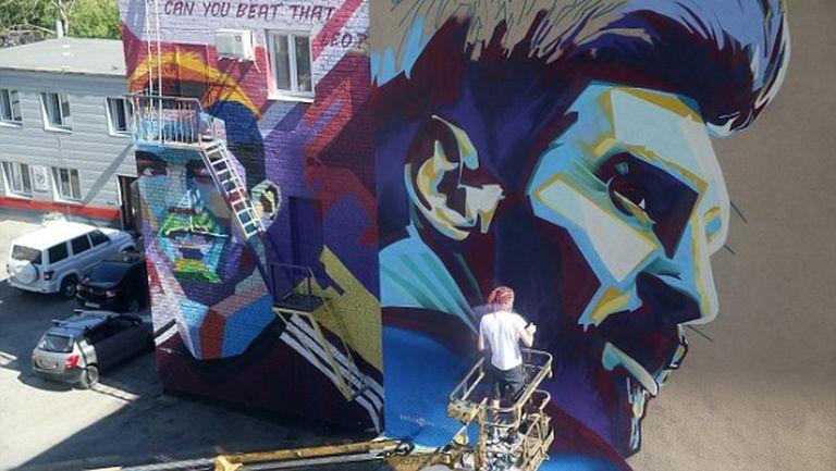 В Казан търсят фасада за графит на Неймар