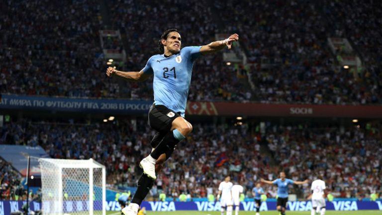 Уругвай елиминира Португалия, Единсон Кавани засенчи Кристиано Роналдо (видео)