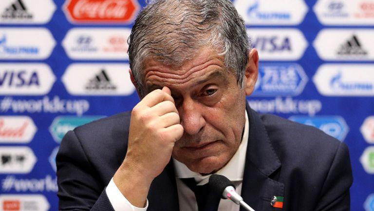 Фернандо Сантош: Кристиано не е виновен, Уругвай просто ни надигра