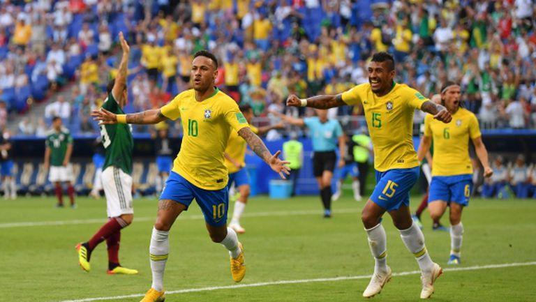 Бразилия приближава Шестата! Неймар торпилира Мексико (видео+галерия)