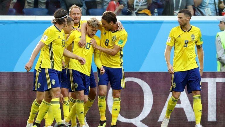 Швеция пребори Швейцария в най-прозаичния 1/8-финал и вече постигна най-големия си успех от 1994-та насам (видео)