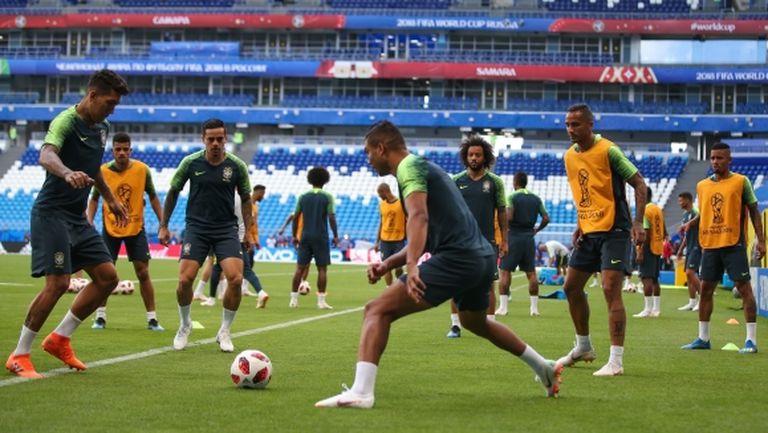Марсело и Коща участваха в тренировката на Бразилия