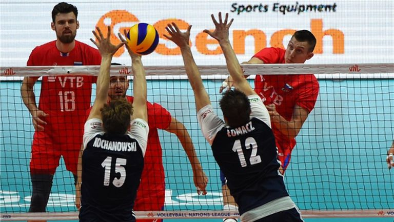 Русия удари Полша на старта на финалите в Лил (видео)