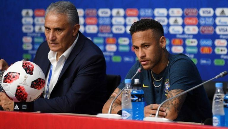 Треньорът на Бразилия: Неймар прави даже повече, отколкото искам от него