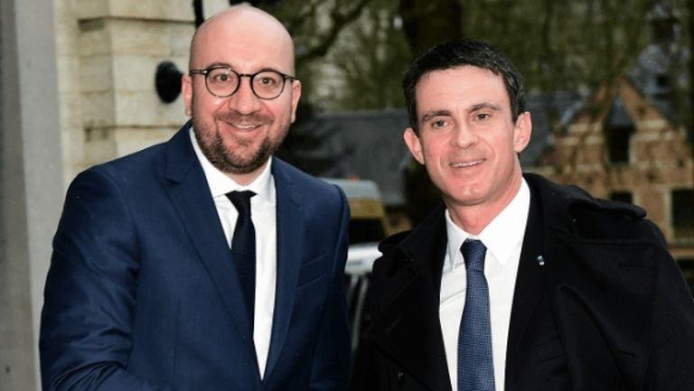 Министрите на Белгия и Франция подчертаха приятелството си преди големия полуфинал