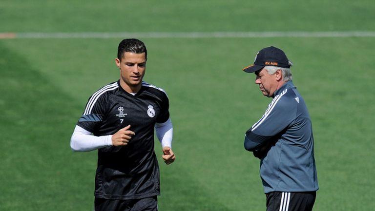 Анчелоти посъветвал Роналдо да премине в Ювентус