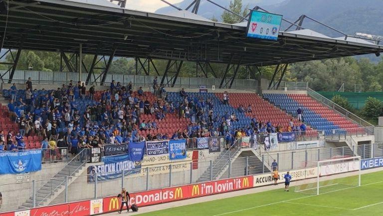 """""""Сини"""" фенове потърсиха обяснение от футболистите на Левски"""