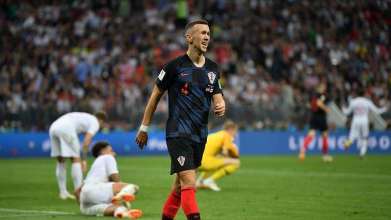 Хърватия тренира без Перишич преди финала