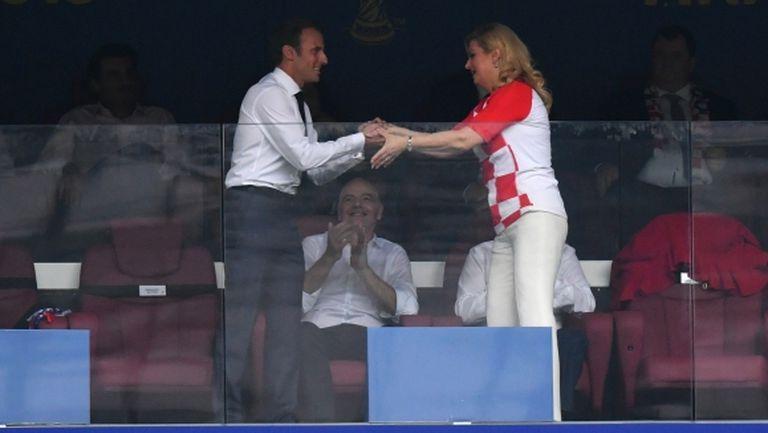 Президентът на Хърватия поздрави Макрон (видео)