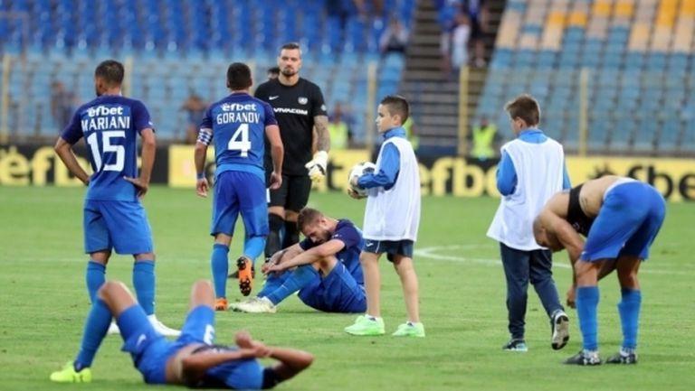 От Левски се издължиха на играчите преди мача с Вадуц