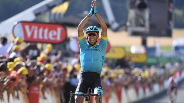 Испанец спечели трудния 14-и етап на Тур дьо Франс