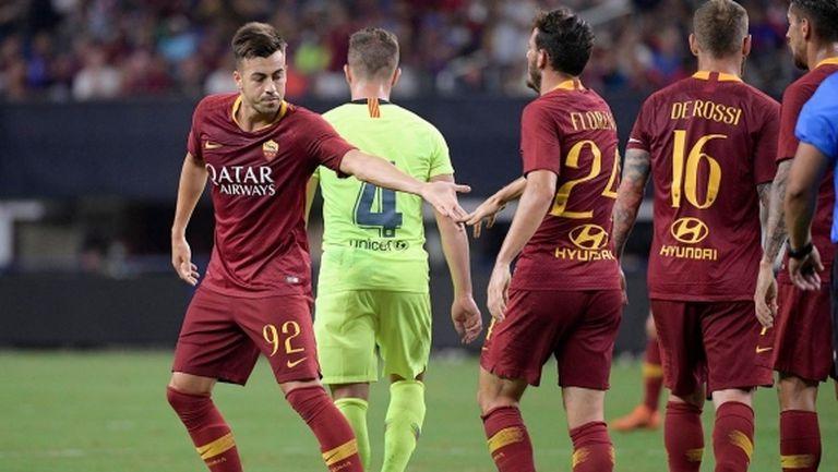 Рома с голям обрат срещу Барса, гол на Малком не бе достатъчен на каталунците (видео)