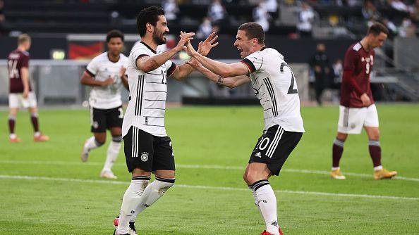 Германия разгроми Латвия със 7:1 в последната си проверка преди Евро 2020.