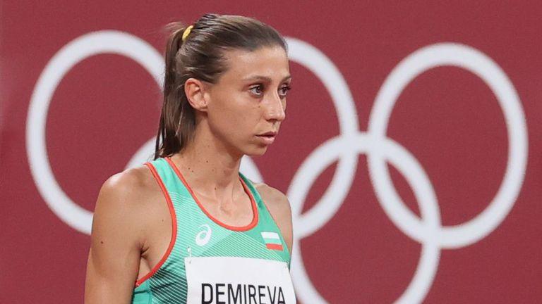 Мирела Демирева във финала на скок на височина на игрите в Токио