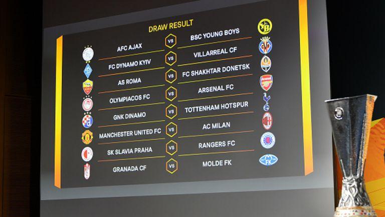 Манчестър Юнайтед срещу Милан е гвоздеят на осминафиналите в Лига Европа