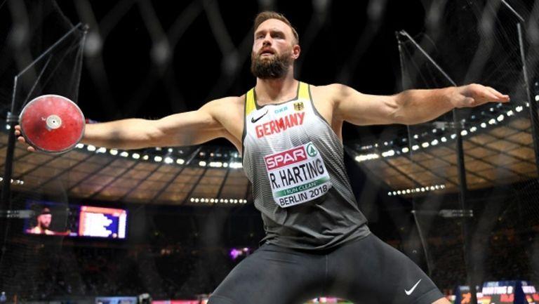 Гудзиус спечели и европейската титла, Хартинг се раздели с атлетиката без медал
