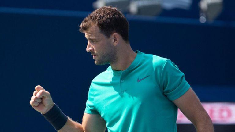 Много тежък мач, но Григор е на 1/4-финал в Торонто (видео)