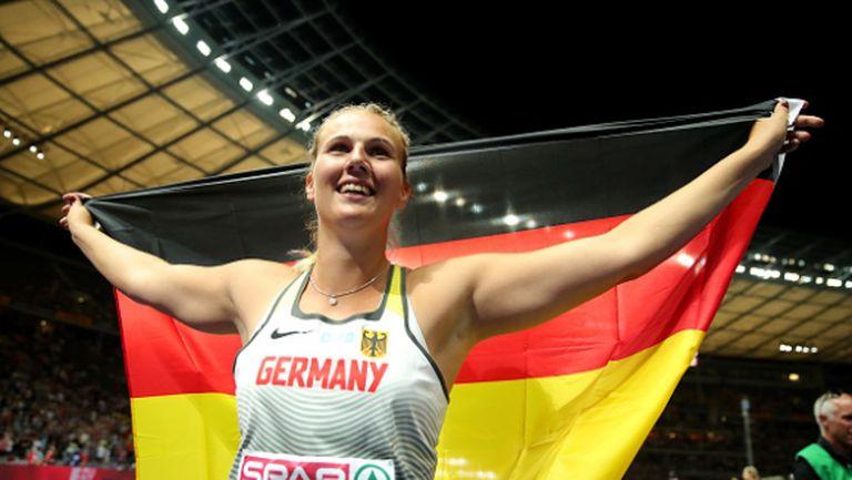 Германка счупи рекорд и стана шампионка в хвърлянето на копие