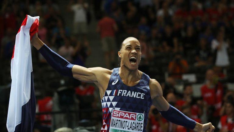 Злато за Франция в бягането на 110 метра с препятствия