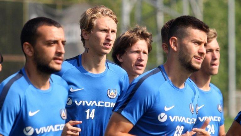 Вашчук с първа тренировка в Левски