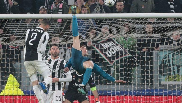 Задната ножица на Роналдо е голът на сезона според UEFA