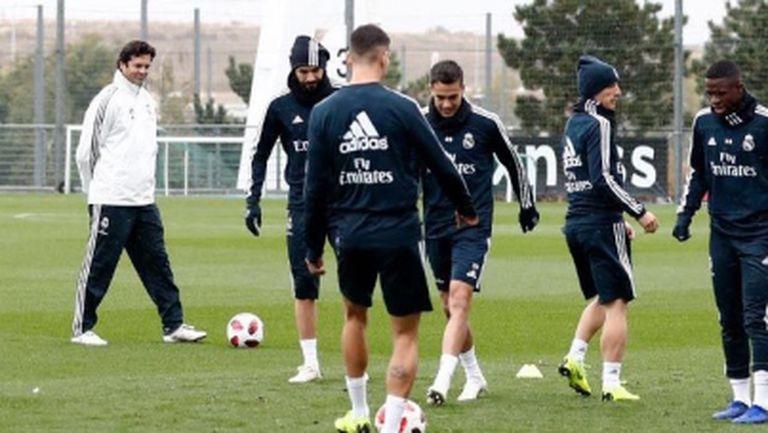 Солари с първа тренировка в Реал Мадрид