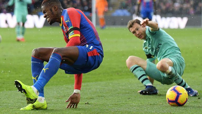 Заха отговори на смъртните заплахи след мача с Арсенал