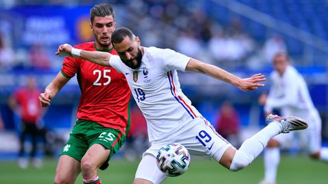 Франция надви България, но загуби Бензема за мача с Германия