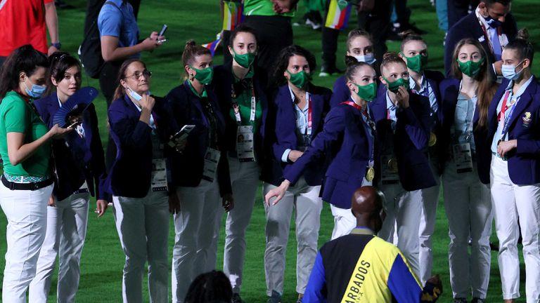 Българските спортисти на церемонията по закриването на Токио 2020