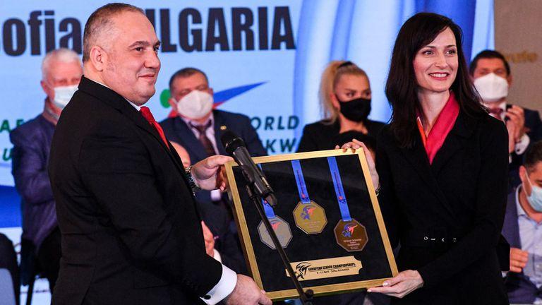 Красен Кралев и еврокомисар Мария Габриел отриха ЕП по таекуондо в София