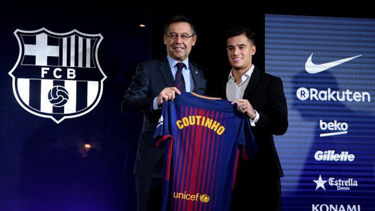 Коутиньо официално е играч на Барселона