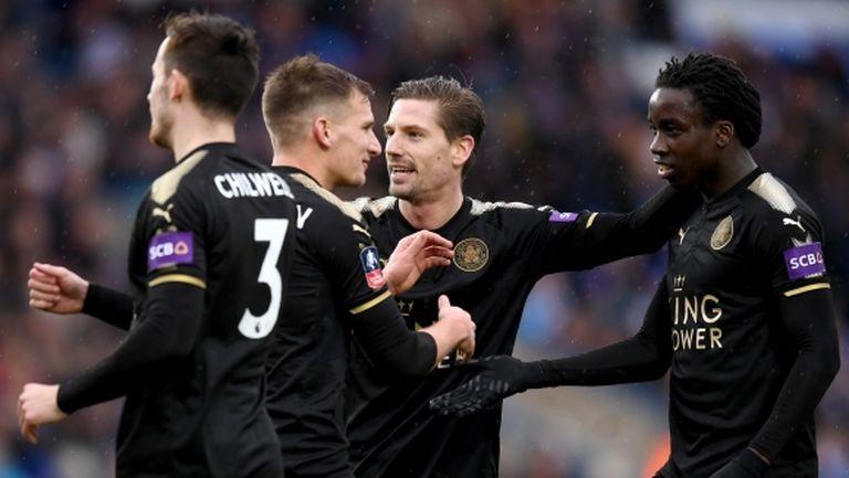 Лестър без проблем на 1/8-финал за ФА Къп, ново попълнение дебютира с два гола