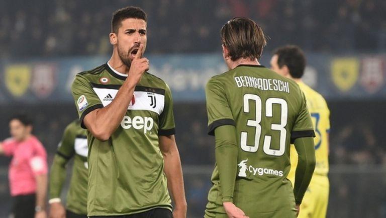 """Два червени картона помогнаха на Юве да стъпи на върха в Серия """"А"""" (видео)"""
