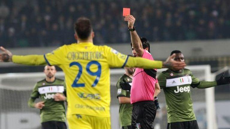 """Два мача наказание за """"белезниците"""" срещу Юве, никакво за ръката на Милан"""