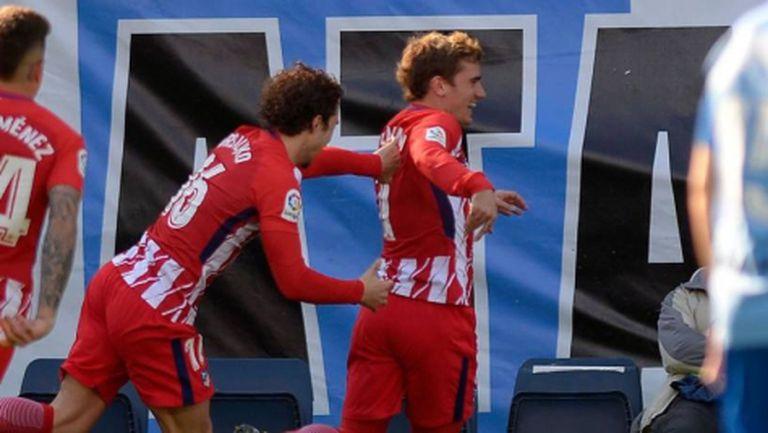Сив и пестелив Атлетико се промъкна на 6 точки от Барселона (видео)