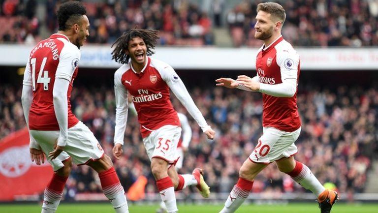 Арсенал напомни, че може да играе (видео)