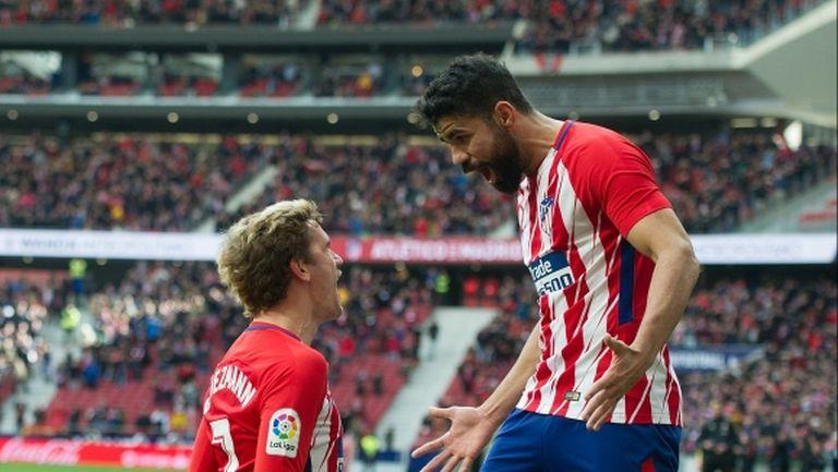 Атлетико се върна към победите в Примера с класика срещу корав тим (видео+галерия)