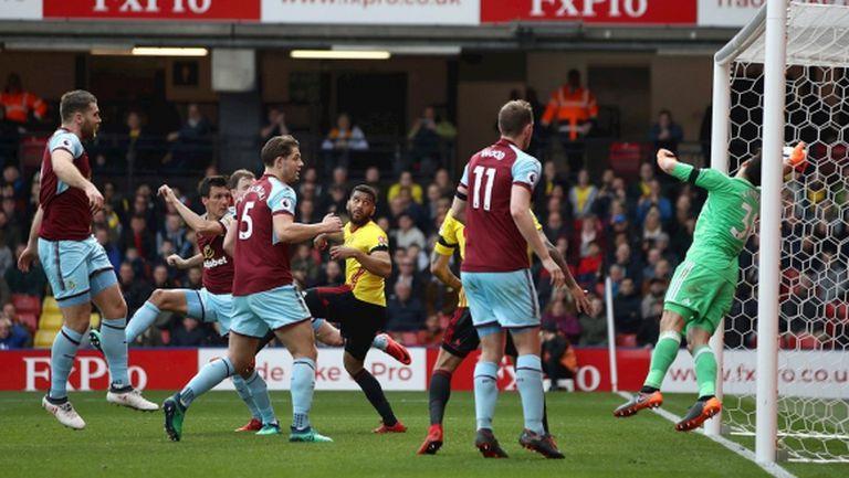 Бърнли обърна Уотфорд за 3 минути и диша във врата на Арсенал