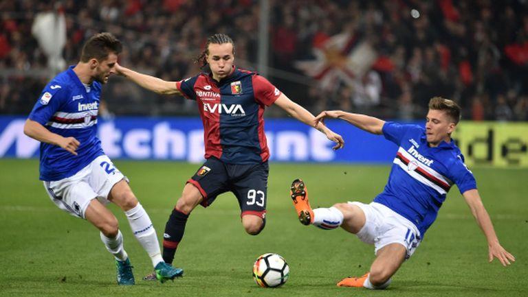 Не зачетоха гол на Гълъбинов в дербито на Генуа (видео)