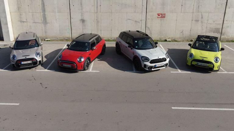 Това са новите MINI Hatch, MINI Cabrio и MINI Countryman