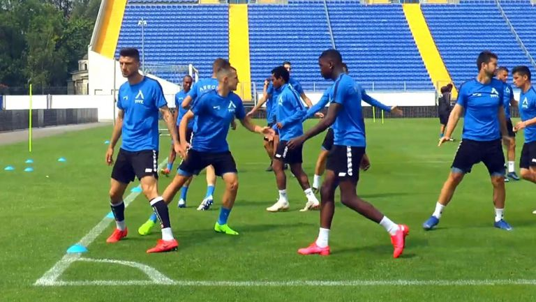 Левски с тренировка в София преди мача с Лудогорец