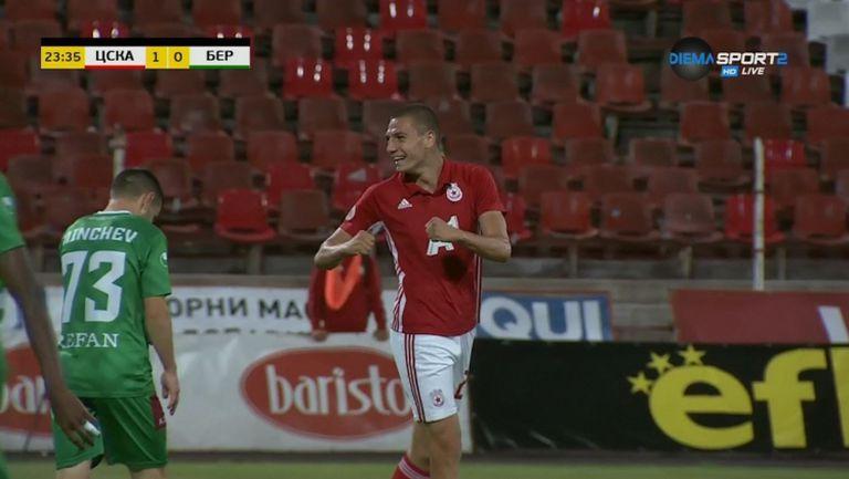 Антов вкара втори гол за ЦСКА-София срещу Берое