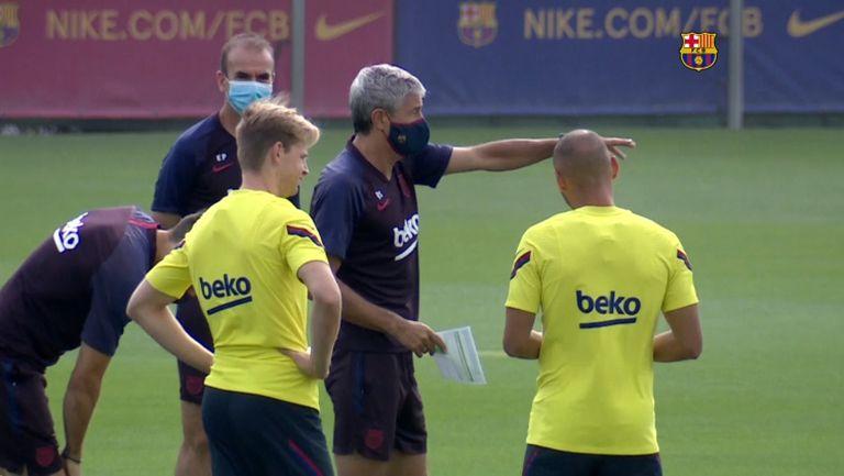 Сетиен вкара настроение в Барселона