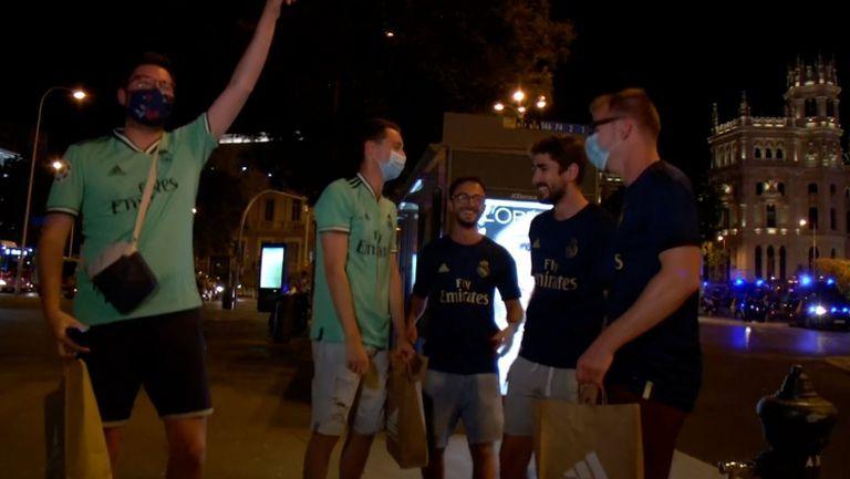 Празненствата на феновете на Реал Мадрид