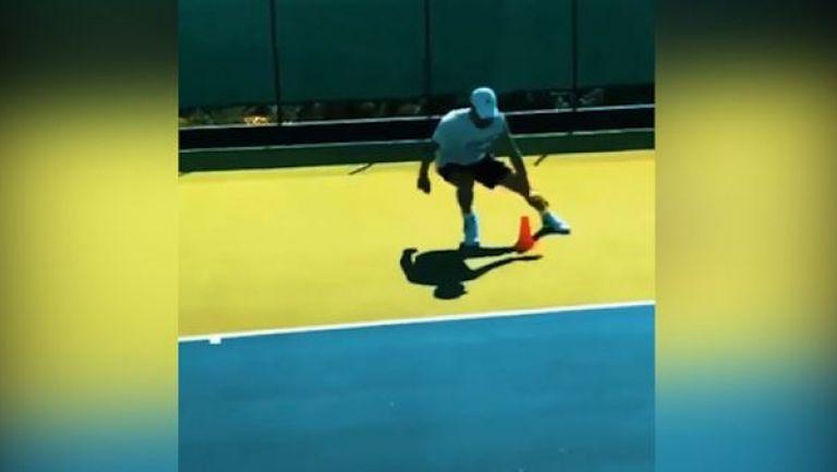Григор Димитров тренира в Монако
